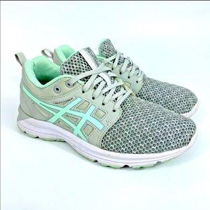 Asics Womens Gel Torrance Gray Mint Running Shoes
